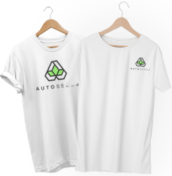 White Auto Seeds t-shirt